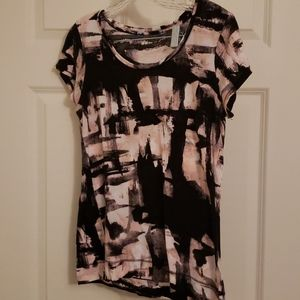 Pink abstract design oversize tshirt
